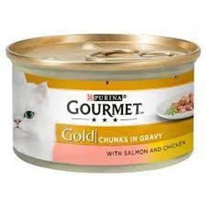 Bilde av GOURMET GOLD SAUS LAKS/KYLLING 85g